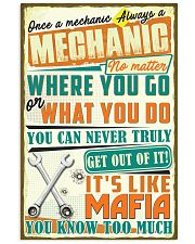 Once a Mechanic always a Mechanic It's like Mafia 11x17 Poster front