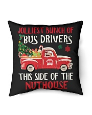 """Bus Driver Indoor Pillow - 16"""" x 16"""" back"""