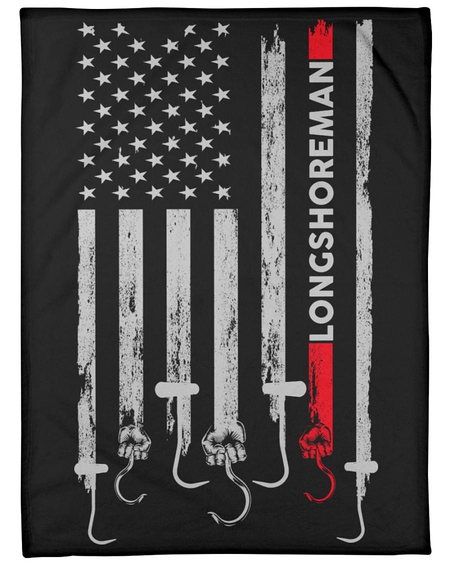 "Longshoreman USA Flag Large Fleece Blanket - 60"" x 80"""