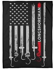 "Longshoreman USA Flag Large Fleece Blanket - 60"" x 80"" front"