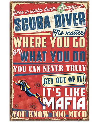Scuba Divers Mafia Poster