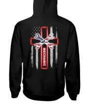 American Flag With Cross Mechanic Hooded Sweatshirt thumbnail