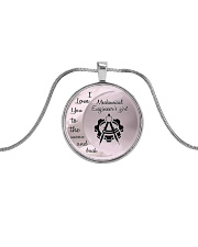 Cute Mechanical Engineer's Lady Metallic Circle Necklace front