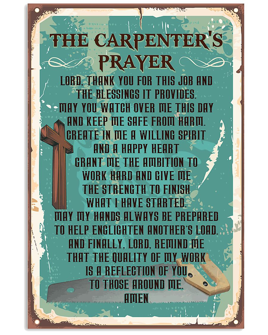 Proud Carpenter's Canvas and Posters 11x17 Poster