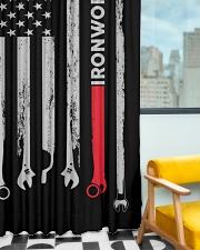 Ironworker USA Flag Window Curtain - Blackout aos-window-curtains-blackout-50x84-lifestyle-front-01