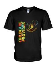 Childcare Provider- Love What You Do V-Neck T-Shirt thumbnail