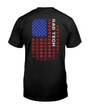 Rad Tech-American Flag Pattern Classic T-Shirt back
