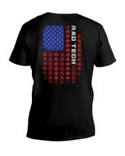 Rad Tech-American Flag Pattern V-Neck T-Shirt thumbnail