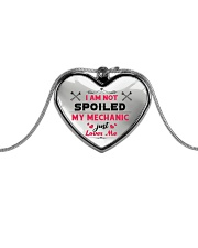 Cute Mechanic's Lady Metallic Heart Necklace front