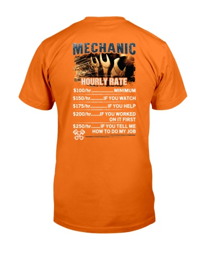 Mechanic Hourly Rate Shirt and Hoodie