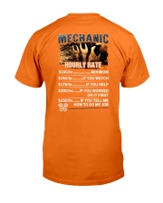 Mechanic Hourly Rate Shirt and Hoodie  Classic T-Shirt back