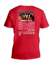 Mechanic Hourly Rate Shirt and Hoodie  V-Neck T-Shirt thumbnail