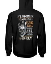 Plumber Caution - Flying Tools Hooded Sweatshirt thumbnail