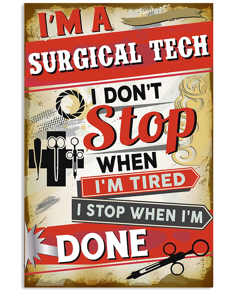 Awesome Surgical Tech's Canvas and Posters 11x17 Poster