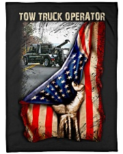 """Tow Truck Operator USA Flag Large Fleece Blanket - 60"""" x 80"""" front"""