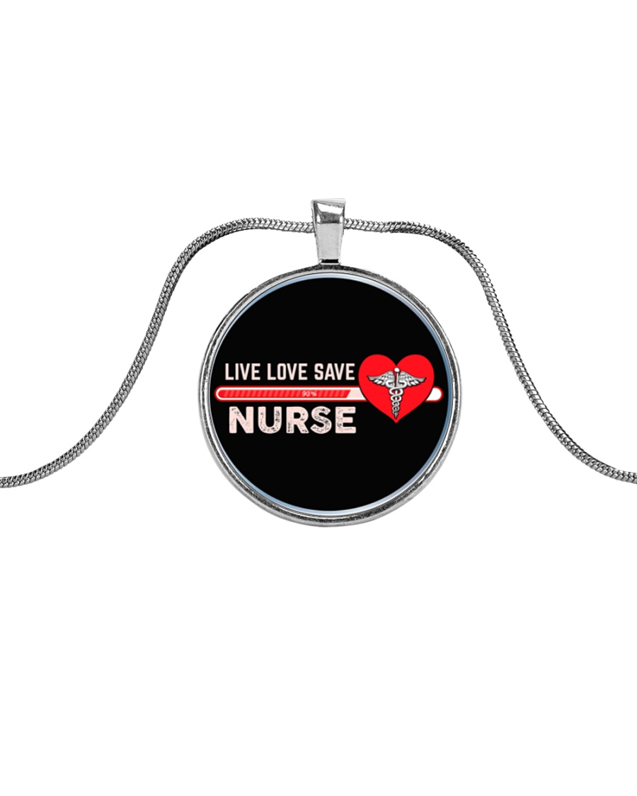 Proud Nurse's  Metallic Circle Necklace