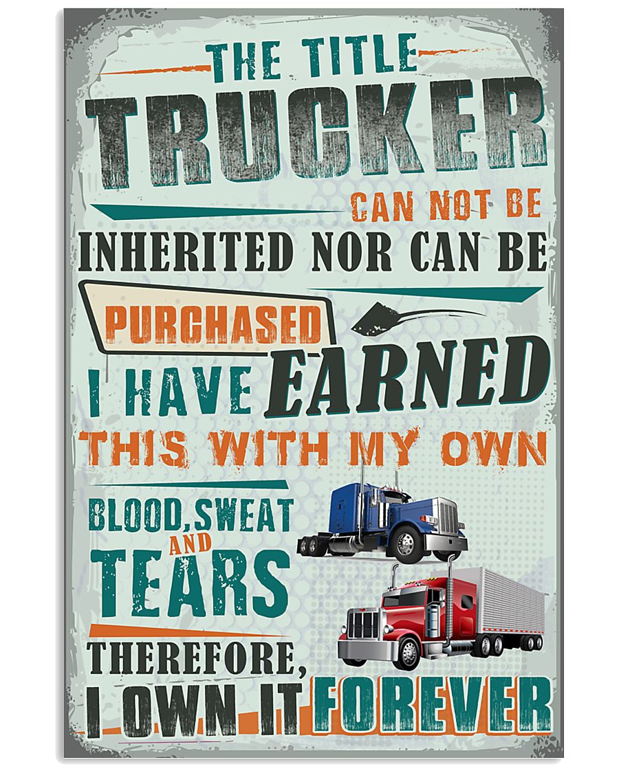 Proud Trucker 11x17 Poster