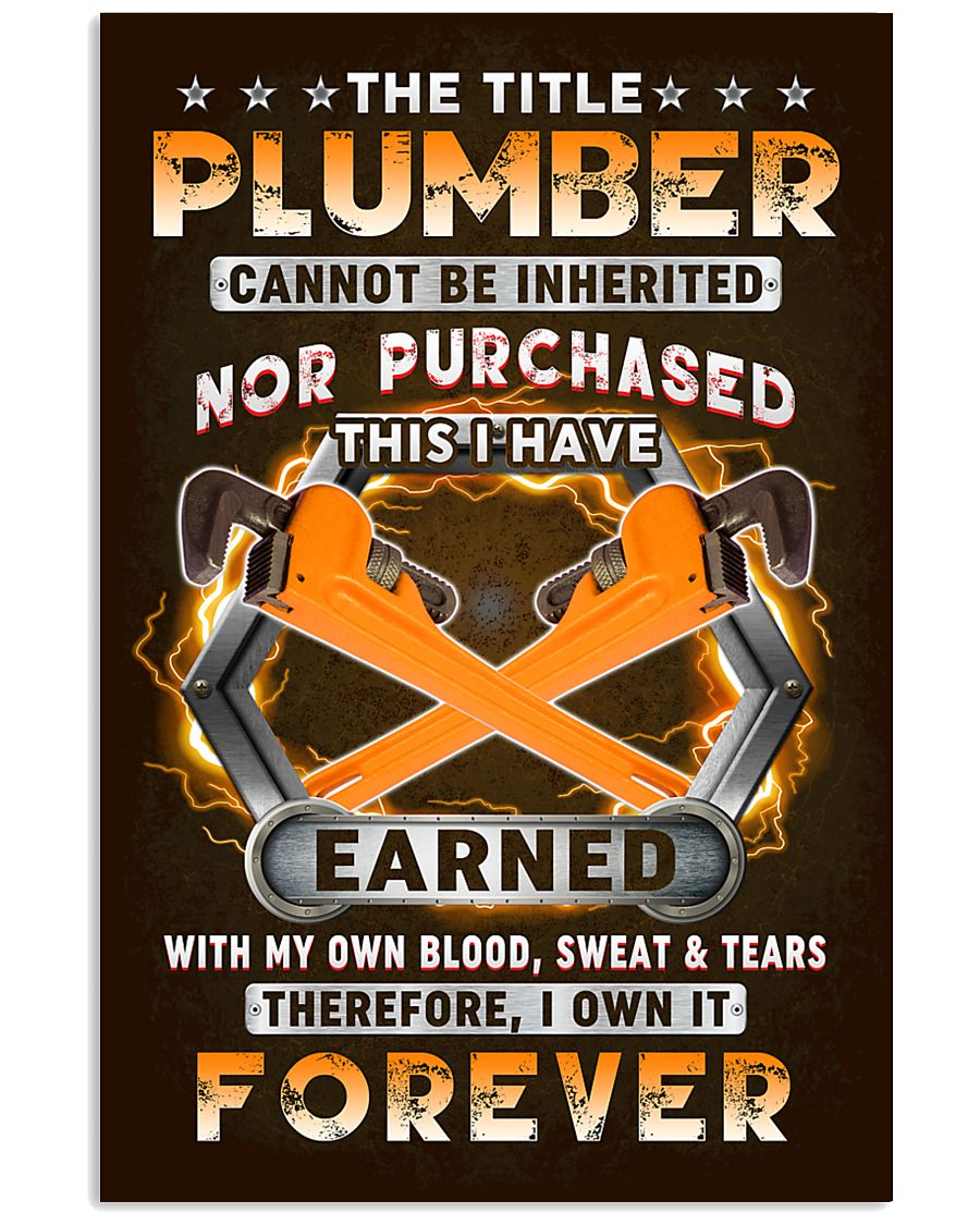 The Title Plumber Own it Forever 11x17 Poster