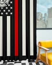 Firefighter USA Flag Window Curtain - Blackout aos-window-curtains-blackout-50x84-lifestyle-front-01