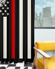 Firefighter USA Flag Window Curtain - Blackout aos-window-curtains-blackout-50x84-lifestyle-front-03