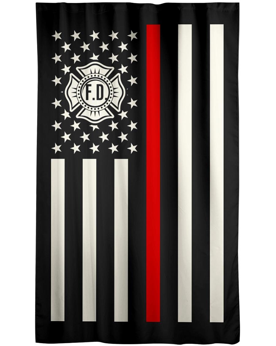 Firefighter USA Flag Window Curtain - Blackout