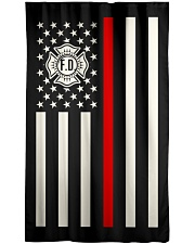 Firefighter USA Flag Window Curtain - Blackout front