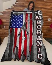"""Proud Mechanic Large Fleece Blanket - 60"""" x 80"""" aos-coral-fleece-blanket-60x80-lifestyle-front-04"""