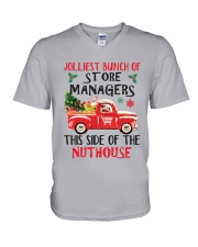 Awesome Store Manager V-Neck T-Shirt thumbnail