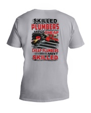 Skilled Plumbers Aren't Cheap V-Neck T-Shirt tile