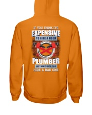 Wait Until You Hire A Bad Plumber- Funny Hooded Sweatshirt back