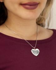 Proud Caregiver's Prayer Metallic Heart Necklace aos-necklace-heart-metallic-lifestyle-1