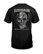Sarcastic Electrician Shirt Classic T-Shirt back
