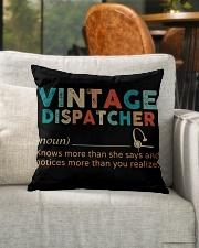"Vintage Dispatcher Indoor Pillow - 16"" x 16"" aos-decorative-pillow-lifestyle-front-04"