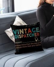 "Vintage Dispatcher Indoor Pillow - 16"" x 16"" aos-decorative-pillow-lifestyle-front-05"