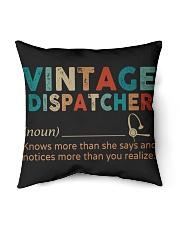 """Vintage Dispatcher Indoor Pillow - 16"""" x 16"""" back"""