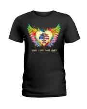 Rad Tech- We Live We Love We Save Lives Ladies T-Shirt front