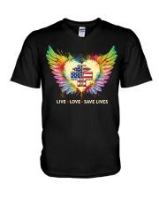 Rad Tech- We Live We Love We Save Lives V-Neck T-Shirt thumbnail