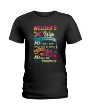 Cute Welder's Lady Shirt Ladies T-Shirt front