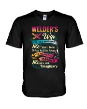 Cute Welder's Lady Shirt V-Neck T-Shirt thumbnail
