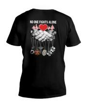 No One Fights Alone- Rad Tech V-Neck T-Shirt thumbnail
