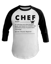 Proud Chef Baseball Tee front