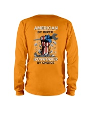 American By Birth Ironworker By Choice Long Sleeve Tee thumbnail
