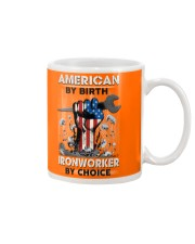 American By Birth Ironworker By Choice Mug tile