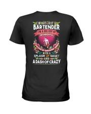 Bartender with a splash of sassy Ladies T-Shirt back