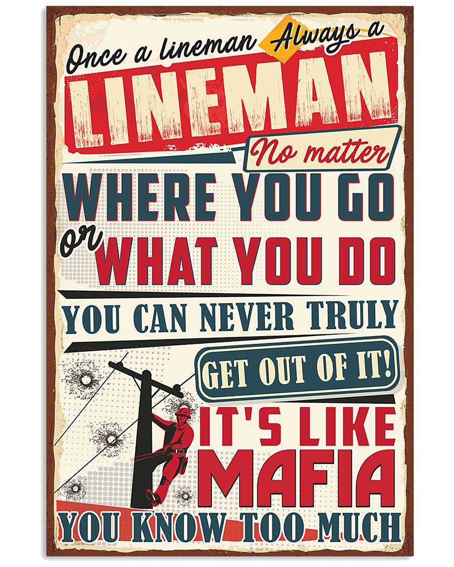 Truly Lineman 11x17 Poster
