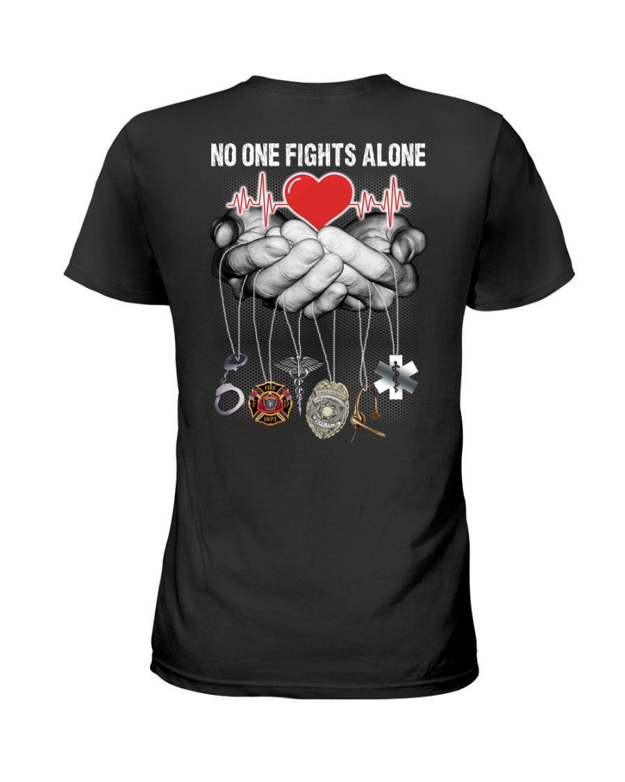 No One Fights Alone Nurse Ladies T-Shirt