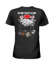 No One Fights Alone Nurse Ladies T-Shirt back
