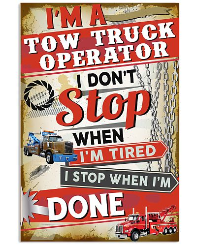 Awesome Tow Truck Operator's Canvas and Poster