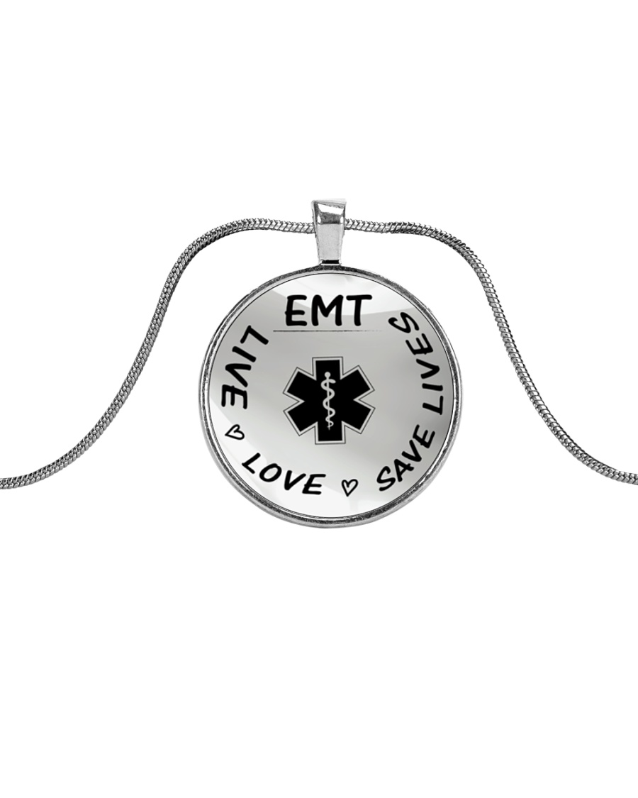 Proud EMT's Metallic Circle Necklace