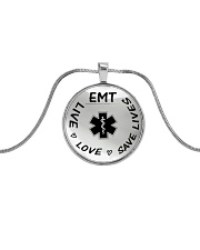 Proud EMT's Metallic Circle Necklace front